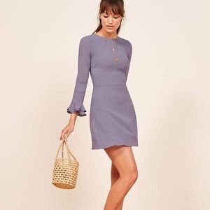 NWT! Reformation Orchid Lavender Finch Dress